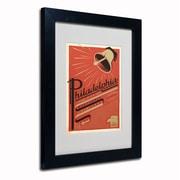 "Trademark Anderson ""Philadelphia, PA"" Art, White Matte W/Black Frame, 11"" x 14"""