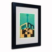 "Trademark Anderson ""Santa Fe, New Mexico"" Art, White Matte W/Black Frame, 11"" x 14"""