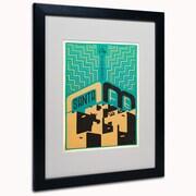 "Trademark Anderson ""Santa Fe, New Mexico"" Art, White Matte W/Black Frame, 16"" x 20"""