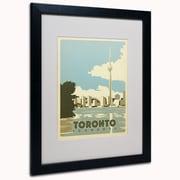 "Trademark Anderson ""Toronto, Canada"" Art, White Matte W/Black Frame, 16"" x 20"""