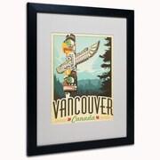 "Trademark Anderson ""Vancouver, Canada"" Art, White Matte W/Black Frame, 16"" x 20"""