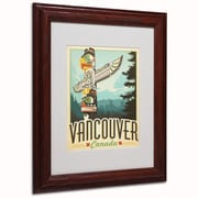 Trademark Anderson Vancouver, Canada Art, White Matte W/Wood Frame, 11 x 14