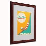 "Trademark Anderson ""Dive into Sunshine"" Paper Art, White Matte W/Wood Frame, 16"" x 20"""