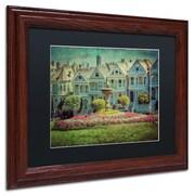 "Trademark Erik Brede ""Alamo Square"" Art, Black Matte W/Wood Frame, 11"" x 14"""