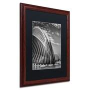 "Trademark Erik Brede ""Architecture Valencia II"" Art, Black Matte W/Wood Frame, 16"" x 20"""