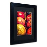 "Trademark Erik Brede ""Balls"" Paper Art, Black Matte W/Black Frame, 11"" x 14"""