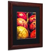 "Trademark Erik Brede ""Balls"" Paper Art, Black Matte W/Wood Frame, 11"" x 14"""