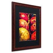 "Trademark Erik Brede ""Balls"" Art, Black Matte W/Wood Frame, 16"" x 20"""