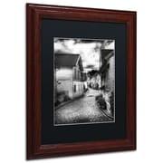 """Trademark Erik Brede """"Old Stavanger Part II"""" Paper Art, Black Matte W/Wood Frame, 11"""" x 14"""""""