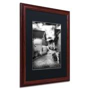 """Trademark Erik Brede """"Old Stavanger Part II"""" Paper Art, Black Matte W/Wood Frame, 16"""" x 20"""""""