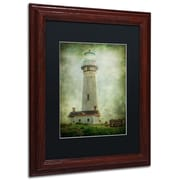 "Trademark Erik Brede ""Pigeon Point ..."" Paper Art, Black Matte W/Wood Frame, 11"" x 14"""