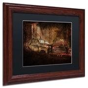 "Trademark Erik Brede ""Still Standing"" Paper Art, Black Matte W/Wood Frame, 11"" x 14"""