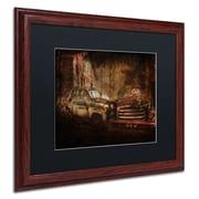 "Trademark Erik Brede ""Still Standing"" Paper Art, Black Matte W/Wood Frame, 16"" x 20"""