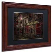 "Trademark Erik Brede ""The Old Anchor Pub"" Art, Black Matte W/Wood Frame, 11"" x 14"""