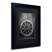 Trademark Erik Brede The Old Wooden Wheel Art, Black Matte W/Black Frame, 11 x 14