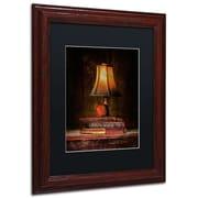 "Trademark Erik Brede ""Wisdom"" Paper Art, Black Matte W/Wood Frame, 11"" x 14"""