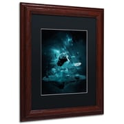 Trademark Erik Brede World on my Shoulders Paper Art, Black Matte W/Wood Frame, 16 x 20