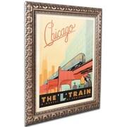 "Trademark Anderson ""Chic L Train"" Ornate Framed Art, 11"" x 14"""
