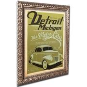 """Trademark Anderson """"Detroit"""" Ornate Framed Art, 11"""" x 14"""""""