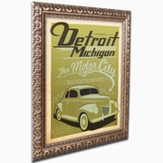"Trademark Anderson ""Detroit"" Ornate Framed Art, 16"" x 20"""