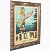"""Trademark Anderson """"Vancouver, Canada"""" Ornate Framed Art, 16"""" x 20"""""""