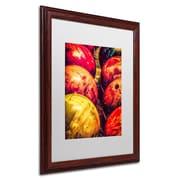 "Trademark Erik Brede ""Balls"" Paper Art, White Matte W/Wood Frame, 16"" x 20"""