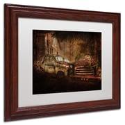 "Trademark Erik Brede ""Still Standing"" Paper Art, White Matte W/Wood Frame, 11"" x 14"""