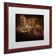 "Trademark Erik Brede ""Still Standing"" Paper Art, White Matte W/Wood Frame, 16"" x 20"""