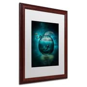 "Trademark Erik Brede ""Two Lost Souls"" Paper Art, White Matte W/Wood Frame, 16"" x 20"""