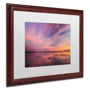 "Trademark Pierre Leclerc ""Baker Bounday Sunset"" Paper Art, White Matte W/Wood Frame, 16"" x 20"""