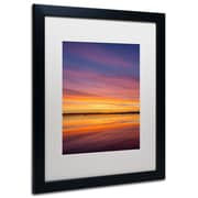 "Trademark Pierre Leclerc ""Boundary Sunset"" Paper Art, White Matte W/Black Frame, 16"" x 20"""