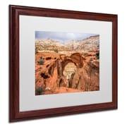 "Trademark Pierre Leclerc ""Cassidy Arch"" Paper Art, White Matte W/Wood Frame, 16"" x 20"""