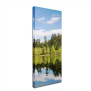 "Trademark Philippe Sainte-Laudy ""Lake Maix"" Part 4 Gallery-Wrapped Canvas Art, 8"" x 24"""