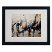 "Trademark CH Studios ""Sands of Time III"" Art, White Matte W/Black Frame, 16"" x 20"""