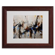 "Trademark CH Studios ""Sands of Time III"" Art, White Matte W/Wood Frame, 11"" x 14"""