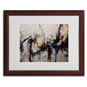 "Trademark CH Studios ""Sands of Time III"" Art, White Matte W/Wood Frame, 16"" x 20"""