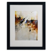 "Trademark CH Studios ""Fallen Light"" Art, White Matte W/Black Frame, 16"" x 20"""