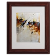"Trademark CH Studios ""Fallen Light"" Art, White Matte W/Wood Frame, 11"" x 14"""