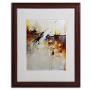 "Trademark CH Studios ""Fallen Light"" Art, White Matte W/Wood Frame, 16"" x 20"""