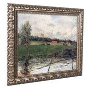 "Trademark Paul Gaugin ""Brittany Landscape, 1879"" Ornate Framed Art, 46"" x 24"""