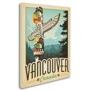 "Trademark Anderson ""Vancouver, Canada"" Gallery-Wrapped Canvas Art, 35"" x 47"""