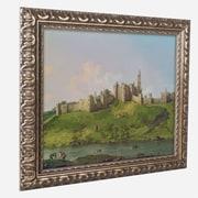 "Trademark Canaletto ""Alnwick Castle"" Ornate Framed Art, 11"" x 14"""