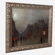 "Trademark John Grimshaw ""Going Home at Dusk 1882"" Ornate Framed Art, 11"" x 14"""