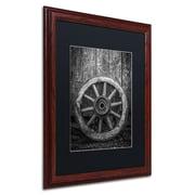 "Trademark Erik Brede ""The Old Wooden Wheel"" Art, Black Matte W/Wood Frame, 16"" x 20"""