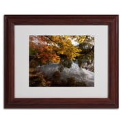 Trademark Kurt Shaffer Kendal Lake Autumn Art, White Matte W/Wood Frame, 11 x 14