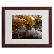 Trademark Kurt Shaffer Kendal Lake Autumn Art, White Matte W/Wood Frame, 16 x 20