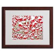 "Trademark Kurt Shaffer ""Winter Berries in the Snow"" Art, White Matte W/Wood Frame, 16"" x 20"""