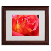 Trademark Monica Fleet Empowering Heart Art, White Matte W/Wood Frame, 11 x 14
