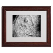 "Trademark Monica Fleet ""Rebellious"" Art, White Matte W/Wood Frame, 11"" x 14"""