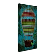 Trademark Nicole Dietz Hot Air Balloon Butterfly Gallery-Wrapped Canvas Art, 10 x 19